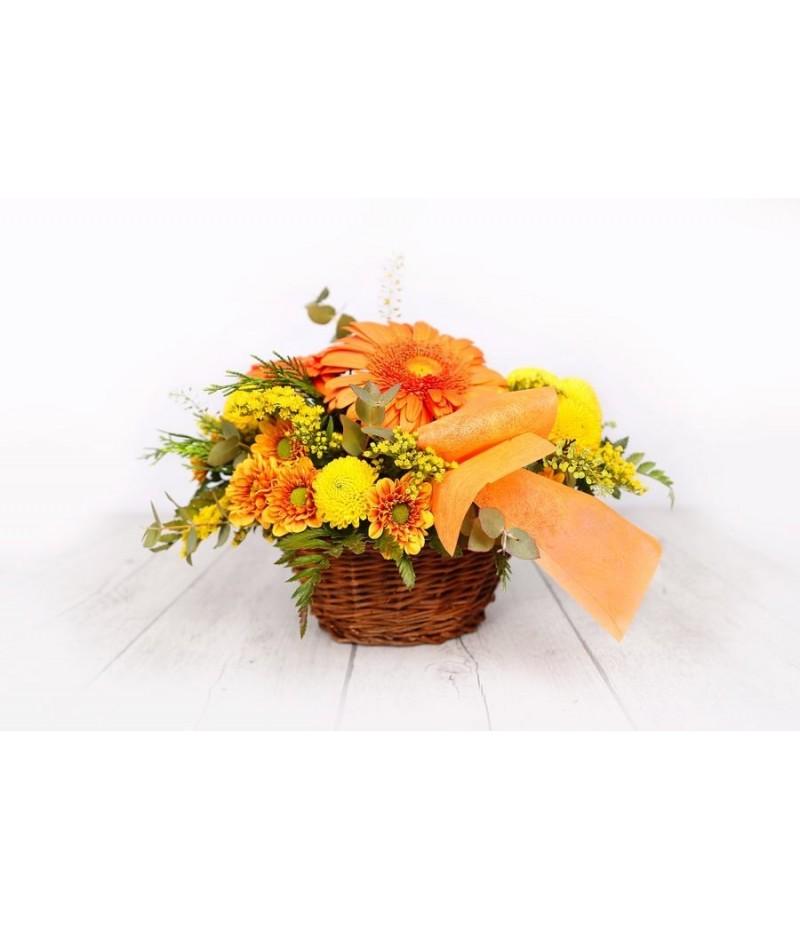 (C104) Cesta amarilla y naranja