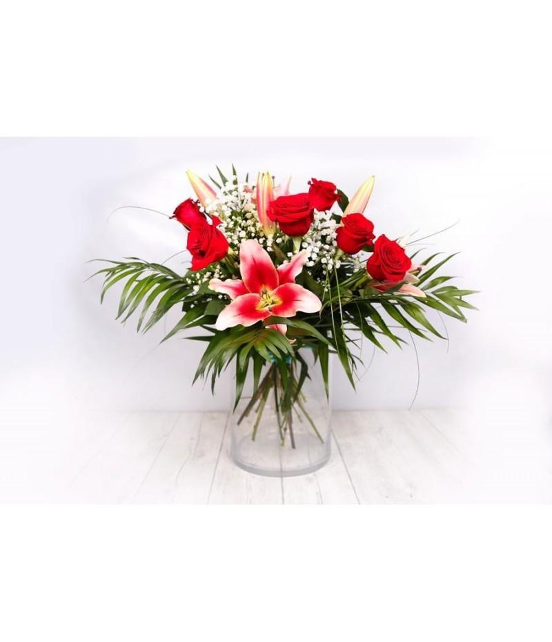 (R112) Ramo de rosas lilium