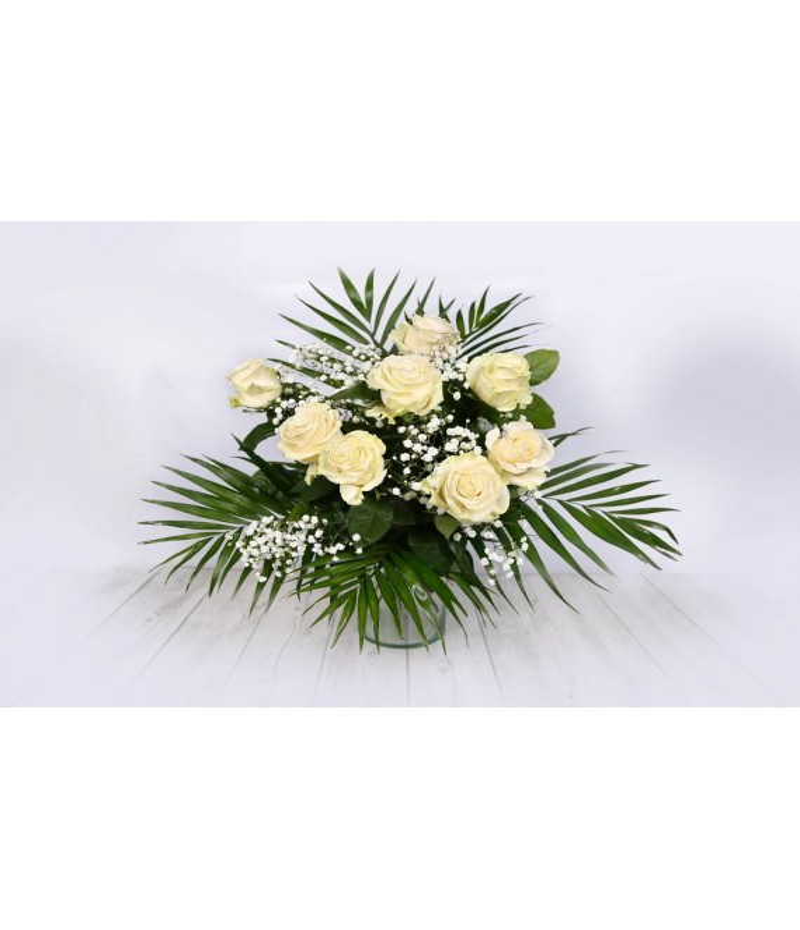 (RO100) White roses