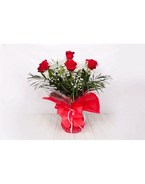 (RO102) Bouquet of 6 red roses