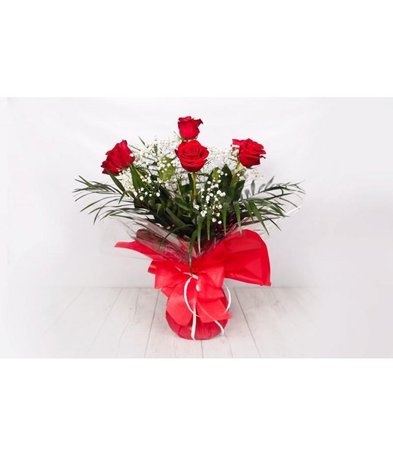 (RO102) Ramo de 6 rosas rojas