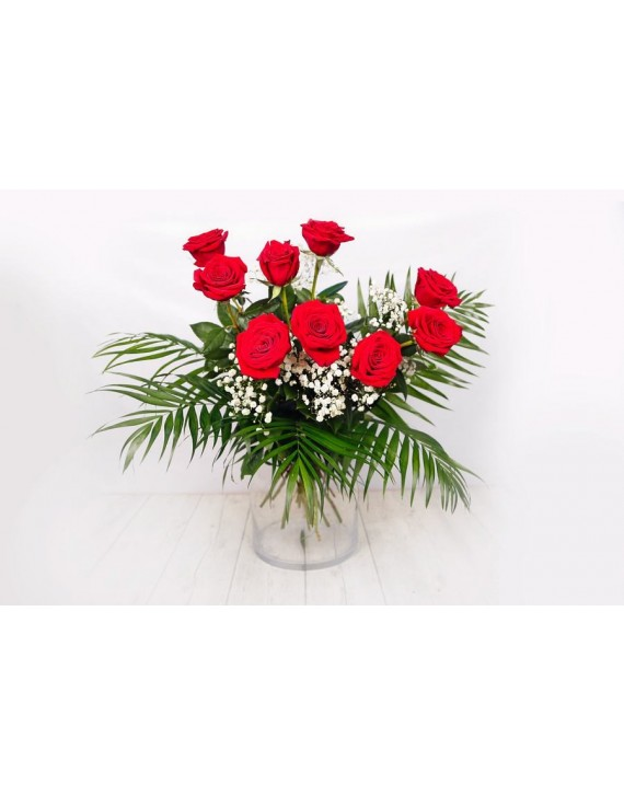 (RO105) 9 Red roses