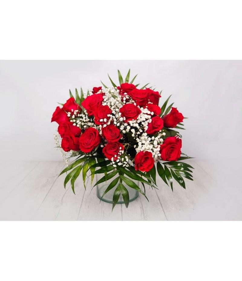 (RO106) Ramo de rosas rojas cortas