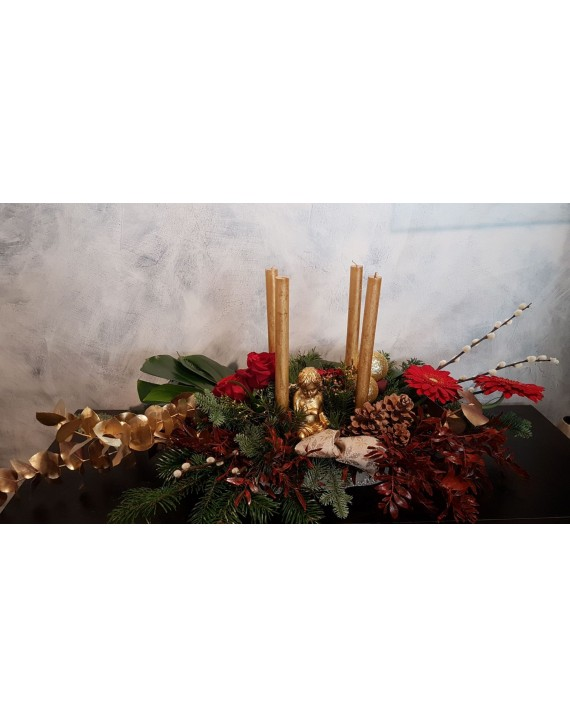 (CA103) Long christmas table arrangement
