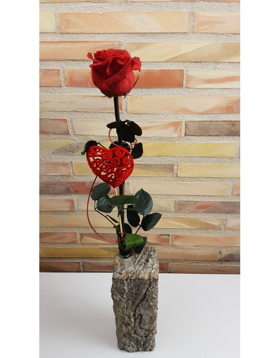 (VA007) Large Everlasting Red Rose