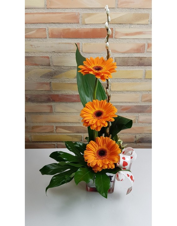 3 Gerberas for Valentines