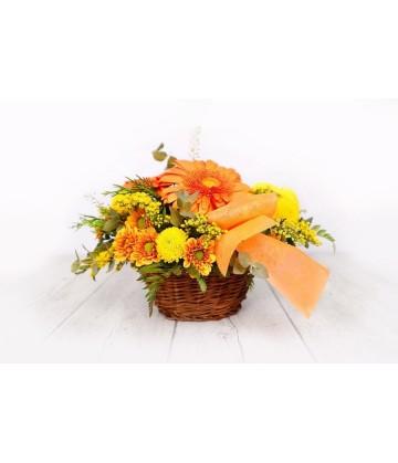 Basket yellow and orange