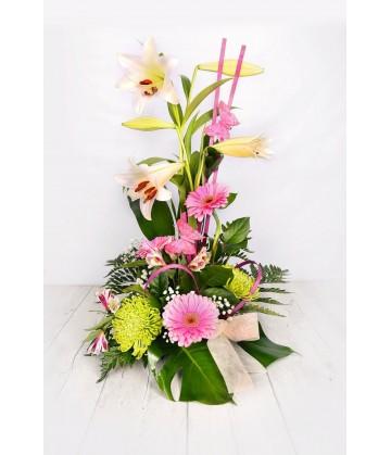 Tall Arrangement lillium gerberas