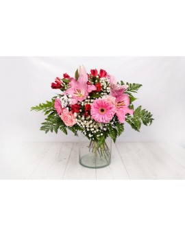 Bouquet varied salmon pink